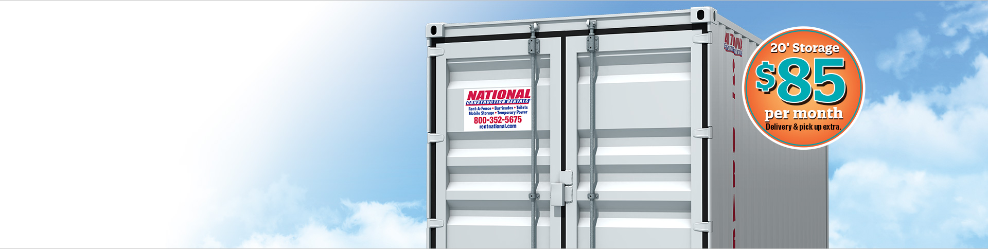 Portable Storage Container for Construction and Events