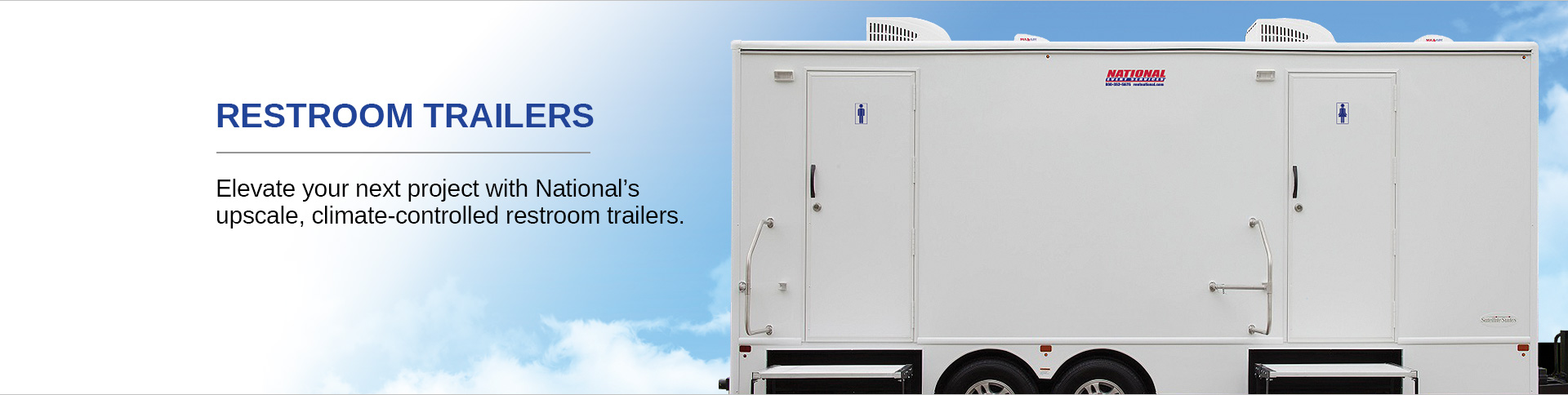 High End Multi-Stall Restroom Trailer for Construction and Special Events