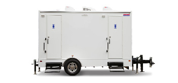 Elegant 4-Station Restroom Trailer for Special Events