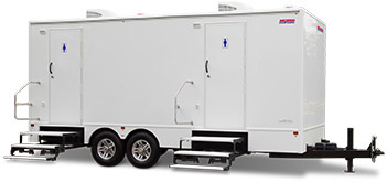 Luxury Restroom Trailer with Multiple Stalls for Events