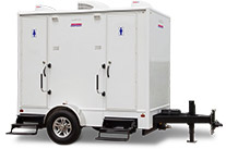 Elegant 2-Station Restroom Trailer for Special Events