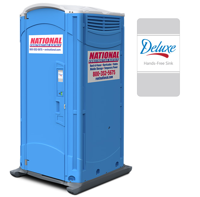 National construction rentals deluxe with sink events for Deluxe portable bathrooms