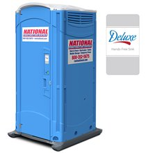 National construction rentals handwash ada events for Deluxe portable bathrooms