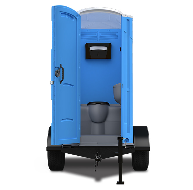 Portable toilet rentals towable porta potty with sink for Deluxe portable bathrooms
