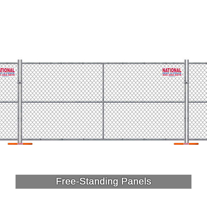 Temporary Chain Link Fence Panel Rentals National Rent A
